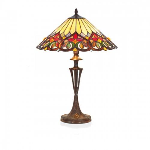 Stolní lampa Tiffany COT-02+PBLM11