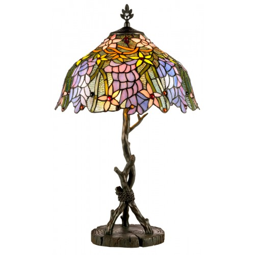 Stolní lampa Tiffany KT1082+AG711