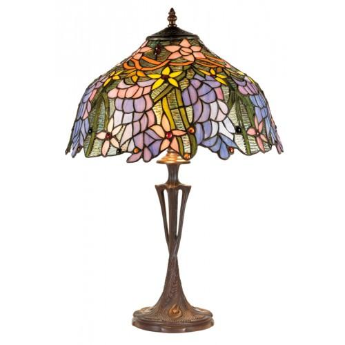 Stolní lampa Tiffany KT1082+PBLM11