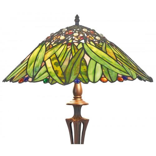 Stolní lampa Tiffany KT163743+PBLM11