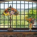 Stolní lampa Tiffany, KT2753+PBLM11