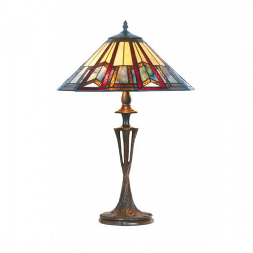 Stolní lampa Tiffany, LPTS02+PBLM11