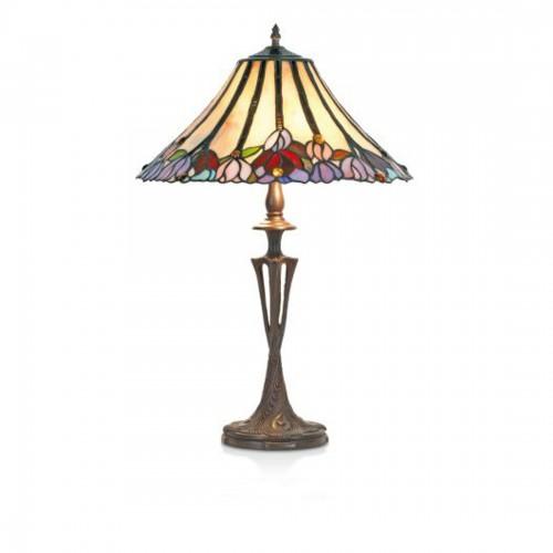 Stolní lampa Tiffany, RC435+PBLM11