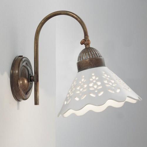 Nástěnné rustikální svítidlo 065.19.OC ze série Fiori di Pizzo