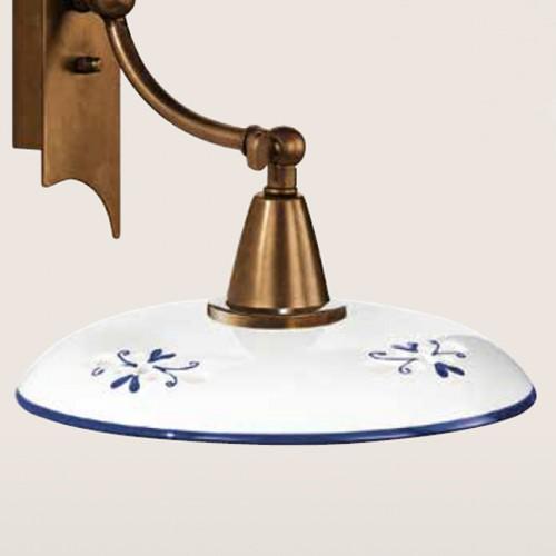 Nástěnné rustikální svítidlo 361/1AP-BR-CE1-BL - modrý dekor