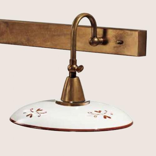 Nástěnné rustikální svítidlo 363/2AP-BR-CE1-MA - hnědý dekor