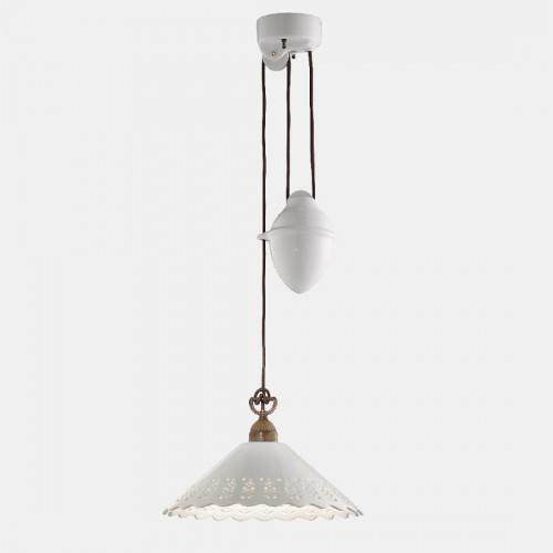 Závěsné stahovací svítidlo 065.11.OC rustikální ze série Fiori di Pizzo