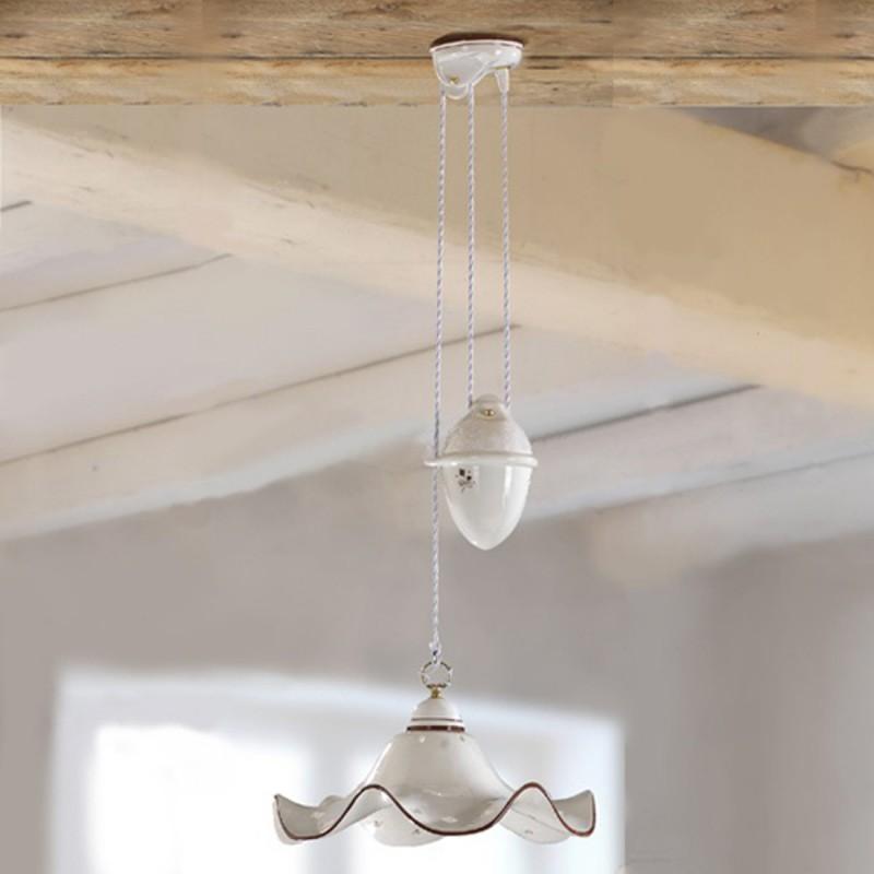 Závěsné stahovací svítidlo rustikální 2219.1M ze série 2219 - hnědý dekor