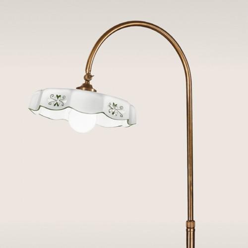 Stojací lampa rustikální 475/1P-BR-CE2-VE - zelený dekor