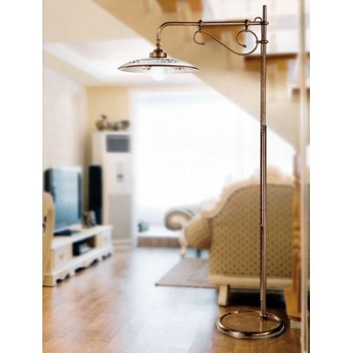Stojací lampa rustikální 375/1P-BR.CE1-MA - hnědý dekor