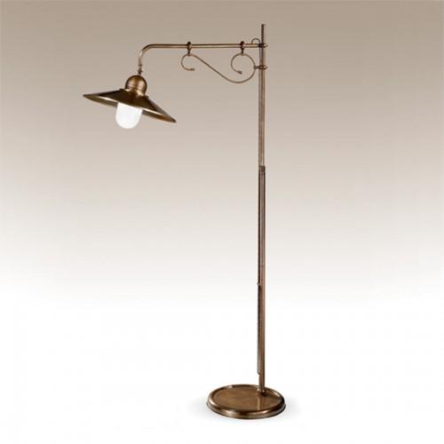 Stojací lampa rustikální 427/1P-BR-CON - mléčné sklo