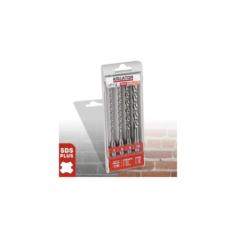 Sada vrtáků do betonu KRT012602, upínání SDS plus, Ø 5 - 10mm, délka 160mm, 4 kusy
