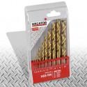 Sada HSS vrtáků do kovu TIN KRT012102 Kreator, 1 - 10mm, 10 kusů
