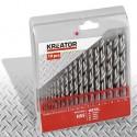 Sada HSS vrtáků do kovu 1 - 10mm Kreator KRT012003, 19 kusů