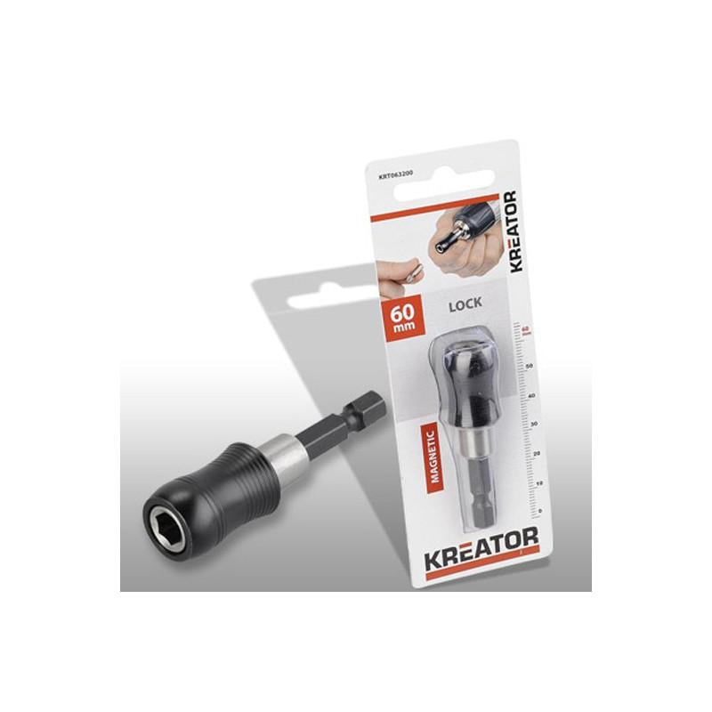 Magnetický držák bitů se zámkem Kreator KRT063200, 60mm