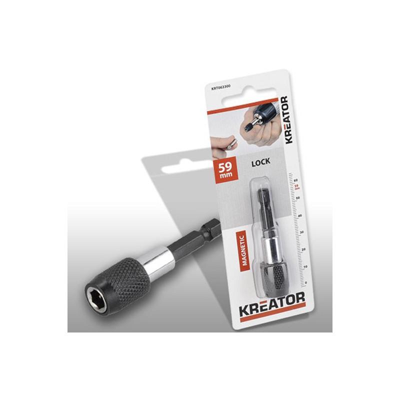 Držák bitů KRT063300 magnetický se zámkem Kreator, 59mm