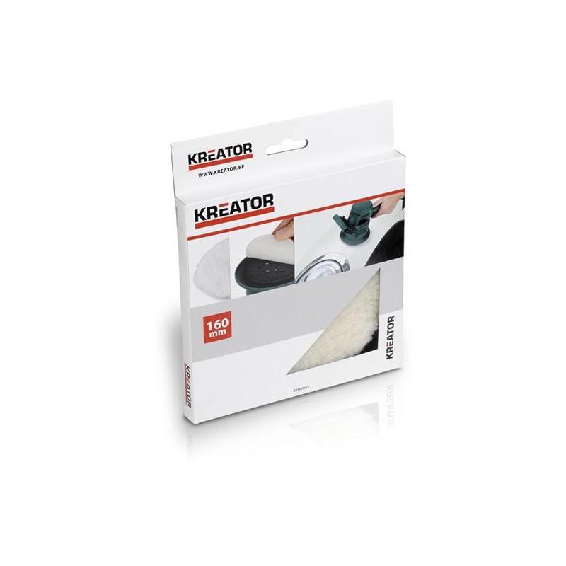 Leštící vlněný kotouč Kreator KRT239013, 160mm