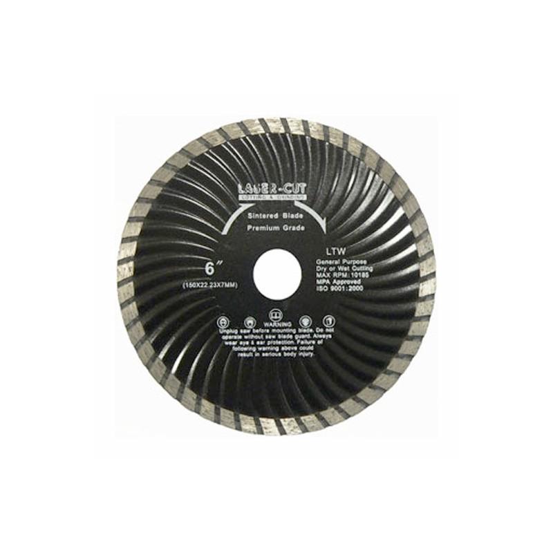 Diamantové řezací kotouče turbo celoobvodové vlnité LTW, Laser Cut