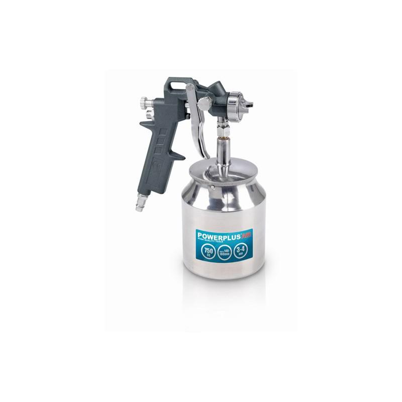 Stříkací vzduchová pistole se spodní nádobou POWAIR0106