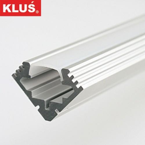 Hliníkový rohový profil pro LED pásky KlusDesign, B4023ANODA+matný překryv