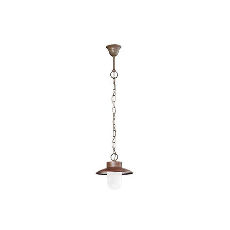 Závěsné svítidlo exteriérové 233.03.ORB rustikální - mléčné sklo