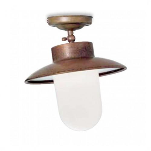 Stropní svítidlo exteriérové 232.06.ORB rustikální - mléčné sklo