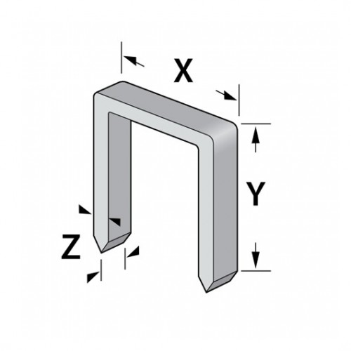 Spony typ A (š-11,2mm) zinek, Kreator, 1000ks