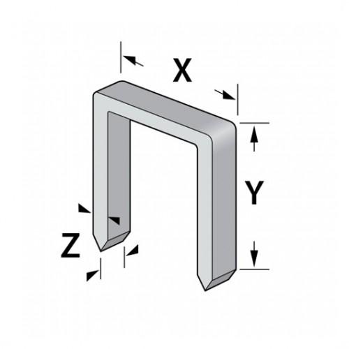 Spony typ C (š-10,6mm) zinek, Kreator, 1500ks